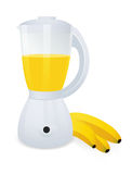 Blender with banana stock photography