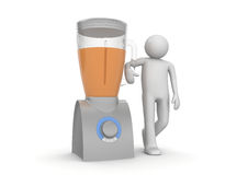 Blender and character - Home stuff Royalty Free Stock Image