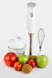 Blender with different ripe fruits Royalty Free Stock Photos