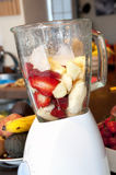 Blender: doing a smoothie Stock Photography
