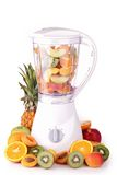 Blender with fruit Royalty Free Stock Images