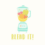 Blender with fruits Stock Photo