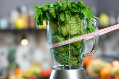 Blender with green ingredients Royalty Free Stock Photography