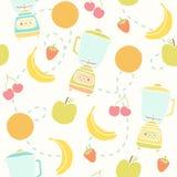Blender i owoc wzór Zdjęcie Royalty Free