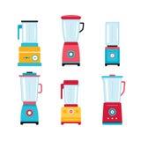 Blender Juicer Mixer Kitchen appliance icon set isolated on white Stock Image