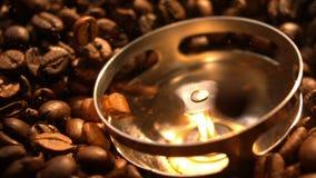 Blender Mleje Kawowe fasole w zwolnionym tempie Makro- zbiory