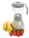 Blender with strawberries and bananas Royalty Free Stock Photography
