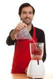 blender szef kuchni nalewa Obrazy Stock