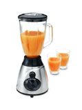 Blender with two glasses of juice Royalty Free Stock Images