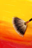 Blending. Fan brush blending two colors stock image
