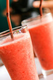 Blending strawberry juice Royalty Free Stock Photo