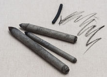 Blending stumps and charcoal stick Stock Photography