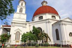 Blenduk Semarang kościół jest kościół który budował w 1753 i jest jeden punkty zwrotni w starym mieście obraz royalty free