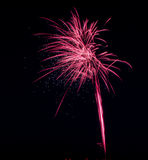 Blendungs-rosa Feuerwerksanzeige Lizenzfreies Stockfoto