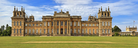 Blenheim宫殿历史的豪宅在英国的乡下 库存图片