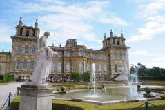 Blenheim宫殿喷泉在伍德斯托克,牛津郡,英国,欧洲 图库摄影