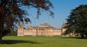Blenheim宫殿,牛津 免版税库存图片