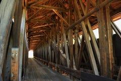 blenheim καλυμμένο γέφυρα εσωτ&eps στοκ εικόνα