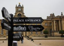 blenheim παλάτι εισόδων στοκ εικόνες με δικαίωμα ελεύθερης χρήσης