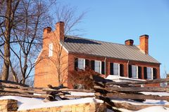 blenheim Fairfax historyczny domowy Virginia Fotografia Royalty Free