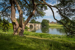 Blenheim Palace & the Grand Bridge Stock Image