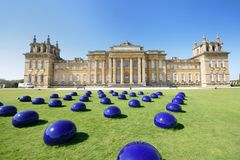 Blenheim palace with modern art installation Royalty Free Stock Photo