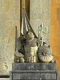 Blenheim Palace. The sculpture at the entrance. Stock Photo