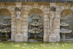 Blenheim Palace sculptured fountain, England royalty free stock photography