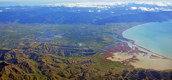 Blenheim & Wairau Valley Aerial Panorama stock photos