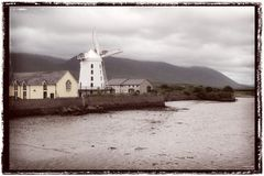 Blennervill Windmill in County Kerry Royalty Free Stock Photography