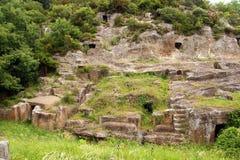 Blera, Italien Gräber im Felsen Stockbild
