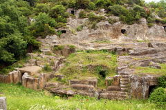Free Blera, Italy. Tombs In The Rock Stock Image - 72897021
