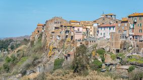 Scenic sight in Blera, medieval village in Viterbo Province, Lazio, central Italy. Blera is a small town and comune in the northern Lazio region of Italy. It stock photography