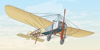 Bleriot XI. Early Flight. Bleriot was used in 1911-1915 Stock Photo