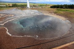 Blesi - heiße Quelle in Island Lizenzfreie Stockbilder