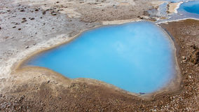 Blesi - heiße Quelle nahe Stokkur-Geysir Stockfoto