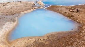 Blesi - heiße Quelle nahe Stokkur-Geysir Lizenzfreie Stockbilder