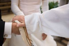 Bless the bridal couple Royalty Free Stock Image