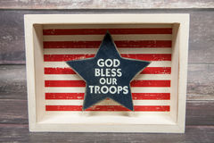 Bless Our Troops Royalty Free Stock Image