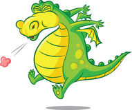 Bless you!. Vector illustration of sneezing dragon Stock Images
