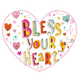 Bless your heart love design Royalty Free Stock Photos