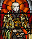 Blessed Aloysius Stepinac. Stained glass stock photo
