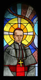 Blessed Aloysius Stepinac. Stained glass church window stock photography