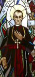 Blessed Aloysius Stepinac. Stained glass window royalty free stock photos
