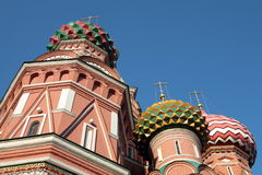 Blessed  Basil cathedral at day Royalty Free Stock Photos