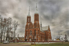 Blessed Jesus' Heart Roman Catholic Church in Liksna Stock Photos