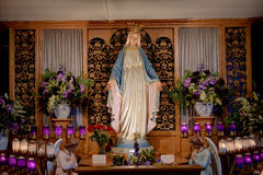 Blessed Mother at Marian Shrine Stock Images