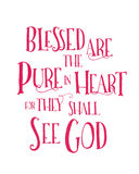 Blessed are the Pure in heart. Typographic Art Poster Beatitudes Design vector illustration
