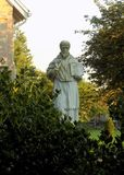 Blessed Statue of St. Francis De Sales in Benedict Stock Photos