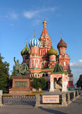 Blessed Vasily's temple in Moscow. Russia. The red area royalty free stock images